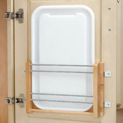 Medium Door-mount Polymer Cutting Board - Platters and trays often get in the way of frequently used pots and pans. Worry no more! Prevent the crashing and banging with this door organizer.