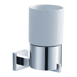Kraus - Kraus Aura Wall-Mounted Ceramic Tumbler Holder - Add a touch of elegance to your bathroom with a stylish Wall-mounted Ceramic Tumbler Holder from Kraus.