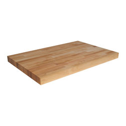 "John Boos Commercial - 2.25"" Thick Maple Commercial Countertop / Table Top - 60""W - Extra heavy-duty butcher block countertops are over 2 inches thick. Or choose a thickness of 1.5 or 1.75 inches. Dozens of standard sizes. or customize."
