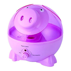 SPT Appliance - Sunpentown Pig Ultrasonic Humidifier - Kids will love this humidifier's fun, whimsical design - and you'll love its healthful benefits and energy efficient performance. Pink, pig-shaped humidifier has cool mist ultrasonic technology and easy to adjust intensity. It runs super-quiet, making is perfect for all day - and night - operation. Cool mist (ultrasonic technology). High humidity output. Silent operation. Adjustable mist intensity. Auto shut-off protection (ultrasonic generator only, fan will continue to run). 1 gallon (3.75 L) tank capacity. Designed for rooms up to 450 sq. ft.. 10 mist output levels. Moisture output up to 7.5 liters per day. No-slip feet. Adorable design. ETL. Input voltage: 120V / 60Hz. Power consumption: 28W. Water tank capacity: 1 gallon / 3.75 liters. Humidity output capacity: 7.5 liters / day. Color: Pink / Transparent Pink. 10.6 in. W x 10.25 in. L x 11.4 in. H (4 lbs.)Help your little ones breathe easier by adding moisture to the air with our adorable Pig-shaped humidifier. Provides year-round relief from the drying effects of AC and Heater. Features super-quiet operation, 1-gallon tank capacity and auto shut-off protection (with no audible alarm) - the perfect addition to any child's room.