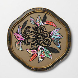 Patch NYC - Black Flower Colored Leaves in Vintage Frame, 2010 - Try this modern bouquet around the house — it won't wilt!