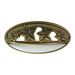 """Belwith Hickory Hardware - 3"""" Center to Center Country Casual Pull - Lancaster Hand-Polished With White - 3"""" Center to Center Country Casual Pull - Lancaster Hand-Polished With White"""