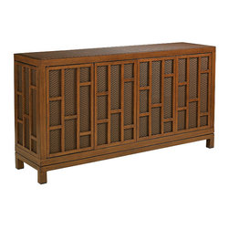 ... TV Stand by Tommy Bahama is a captivating fusion of east-meets-west