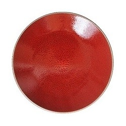 Tourron Dinner Plate, Cherry - If you're thinking of any other option than red plates for Valentine's Day, perish the thought!