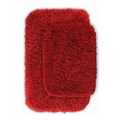 "Garland Rug - Bath Mat: Serendipity Chili Pepper Red 21"" x 34"" Bathroom 2 -Piece Rug Set - Shop for Flooring at The Home Depot. This heavyweight shag bath rug will fit easily into any bathroom decor. Serendipity is made with 100% Nylon for superior softness and colorfastness. And is proudly made in the USA.."