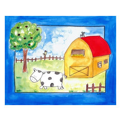 Oh How Cute Kids by Serena Bowman - On The Farm, Ready To Hang Canvas Kid's Wall Decor, 8 X 10 - Every kid is unique and special in their own way so why shouldn't their wall decor be so as well! With our extensive selection of canvas wall art for kids, from princesses to spaceships and cowboys to travel girls, we'll help you find that perfect piece for your special one.  Or fill the entire room with our imaginative art, every canvas is part of a coordinating series, an easy way to provide a complete and unified look for any room.