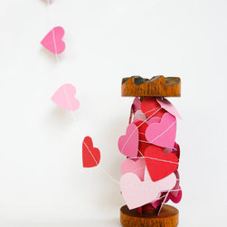 Valentine's Day Decoration Paper Heart Garland by Yellow Bird, Yellow Beard - I'd love to see this heart garland strung above a dessert table.