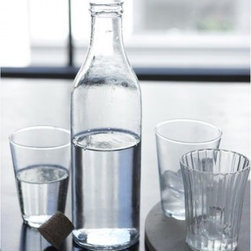 Milk Bottle with Cork Cap - Bring a glass bottle of fresh juice or water with lemon and cucumbers for a refreshing picnic drink. I love the look of traditional glass bottles; they don't make them as often anymore, so it's nice to bring back a bit of that old-time charm.