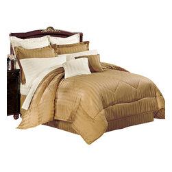 """Bed Linens - 10-PC Duvet Comforter cover set, Full Ivory - """"* 100% Egyptian cotton"""