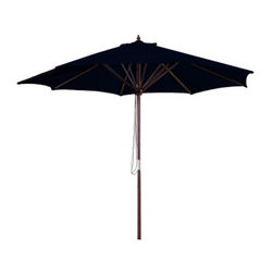 Jordan Manufacturing 9 ft. Wooden Market Umbrella - Bring some shade to your patio with the Jordan Manufacturing 9 ft. Wooden Market Umbrella. Crafted of spun polyester, this umbrella is a perfect for accenting or totally reinventing any outdoor space. The umbrella can be easily maintained with a mild soap and water mixture.About Jordan Manufacturing A leader in the outdoor industry for over 29 years, Jordan Manufacturing Company, Inc. takes pride in the fact that quality and customer service have always been their top priorities. They realize that their commitment does not end with the sale. This is simply the starting point in a long-running relationship. Jordan believes the customer is the ultimate judge of their products and their customers have proven their loyalty since 1975.