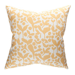 "Belle & June - Pod Decorative Throw Pillow in Anise - Rustic, organic yet supremely elegant, this designer decorative pillow will add subtle charm to any bed, chair or sofa. Available in a fabulous palette of stylish colors, this hand printed pillow instantly enhances any room its in. Dimensions: 22"" x 22"""