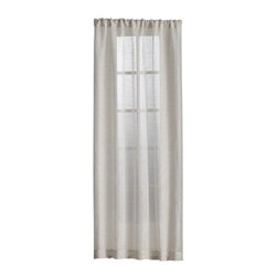 """Natural Linen Sheer 52x84 Curtain Panel - Open-weave linen diffuses light beautifully. Unlined panel has 3"""" rod pocket and 3"""" hem. Curtain accessories also available."""