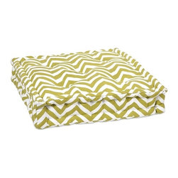 IMAX CORPORATION - Green Chevron Floor Cushion - This functional floor cushion features a fun green chevron print fabric with tufted details. Find home furnishings, decor, and accessories from Posh Urban Furnishings. Beautiful, stylish furniture and decor that will brighten your home instantly. Shop modern, traditional, vintage, and world designs.