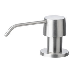 ALFI brand - ALFI AB5004-BSS Brushed Stainless Steel Single Hole Soap Dispenser Pump - LEON kitchen faucets by ALFI brand are made of solid stainless steel, unlike traditional faucets which are made out of brass and treated to created different finishes. These faucets are built tough and made to last for decades, both durability and looks.