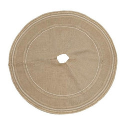 Burlap Lace Tree Skirt - You must take every aspect into consideration when decorating, so you can't miss on this burlap tree skirt to complete a rustic look.