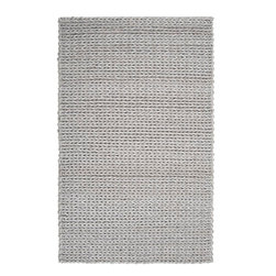 Surya - Surya ANC1001-58 Anchorage Shag Hand-Woven Wool Rug - Reminiscent of a cable knit sweater the Anchorage Collection is one of Surya's most unique rugs.  Made of 100% New Zealand felted wool, this ultra textured shag makes and impressive statement within any room.