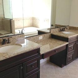 Bathroom Countertops - Giallo Ornamental granite vanity top