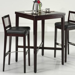 Home Styles 3 Piece Cherry Square Pub Set - Whether you're setting up your man-cave or creating an entertainment room, the Home Styles 3 pc. Cherry Pub Set makes up the perfect drinking station. Two stool and a handsome, sturdy table, what more could anyone ask for? Each matching piece is made up of select hardwoods with rich veneers coated in a dark cherry finish for a bold look that'll compliment any décor. The stools will perch you at 31 inches above the ground and atop ultra-comfortable black vinyl upholstery that's as soft as it is sophisticated. Now all you need is good tunes and cold brews! Stools measure 16W x 20D x 41H inches. Table measures 30L x 30W x 42H inches.About Home StylesHome Styles is a manufacturer and distributor of RTA (ready to assemble) furniture perfectly suited to today's lifestyles. Blending attractive design with modern functionality, their furniture collections span many styles from timeless traditional to cutting-edge contemporary. The great difference between Home Styles and many other RTA furniture manufacturers is that Home Styles pieces feature hardwood construction and quality hardware that stand up to years of use. When shopping for convenient, durable items for the home, look to Home Styles. You'll appreciate the value.