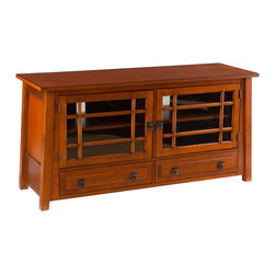 Holly & Martin - Harrison TV/Media Stand, Brown Mahogany - Fall in love with the lightly Asian-inspired, linear design of this TV/media stand. The warm, brown mahogany finish and ample storage make this media stand a wonderful addition to any home.