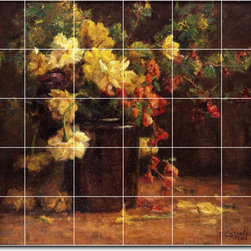 Picture-Tiles, LLC - June Glory Theodore Clement Steele 1920 Tile Mural By Theodore Steele - * MURAL SIZE: 40x48 inch tile mural using (30) 8x8 ceramic tiles-satin finish.