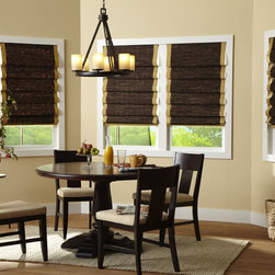 Laura Ashley Natural Woven Wood Shades - Ready for the newest look in fashion and quality woven wood shades? Exclusive to Blinds.com, Laura Ashley woven woods offer many unique styles, patterns and color options that will elevate any rooms decor.