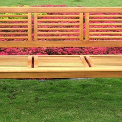 International Caravan - 3-Seater Outdoor Park Bench - All weather resistant and UV light fading protection. Made from pure yellow balau hardwood. Stain finish. Made in Vietnam. Assembly required. 63 in. L x 25 in. W x 35 in. H (70 lbs.)
