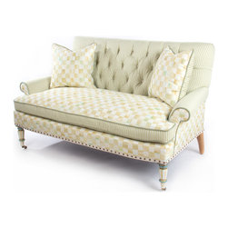 """Parchment Check Underpinnings Loveseat 