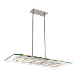 Joshua Marshal - Clear Ten Light Down Lighting Dual Mount Ceiling Fixture - Clear Ten Light Down Lighting Dual Mount Ceiling Fixture