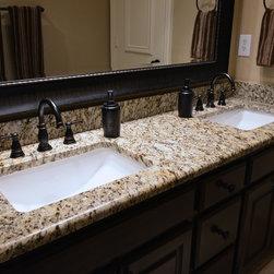 Bathrooms - Santa Cecilia granite countertops, bathroom vanity, granite vanity, Santa Cecilia ...