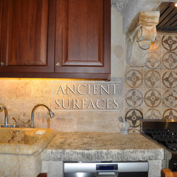 Kitchen Hoods Carved in Mediterranean Limestone - Source :  Ancient Surfaces