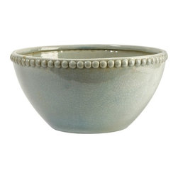 IMAX CORPORATION - CKI Pratt Bowl - In a serene celadon finish, the ceramic Pratt bowl features hobnail detailing with classic style. Find home furnishings, decor, and accessories from Posh Urban Furnishings. Beautiful, stylish furniture and decor that will brighten your home instantly. Shop modern, traditional, vintage, and world designs.