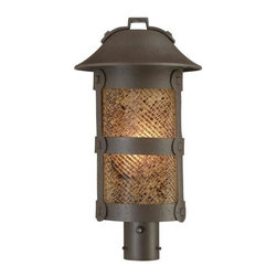 Minka-Lavery - Minka-Lavery Lander Heights PL 1-Light Outdoor Post Mount - 9256-A199-PL - This 1-Light Post Light has a Bronze Finish and is part of the Lander Heights Collection.