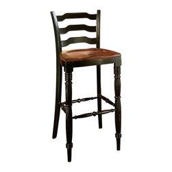Hooker Furniture - Hooker Furniture Indigo Creek Bar Stool in Rub-Through Black - Hooker Furniture - Bar Stools - 33275360