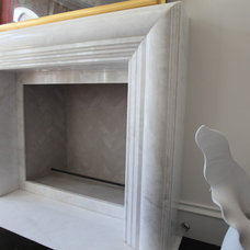 Contemporary Fireplaces by The Granite Shop