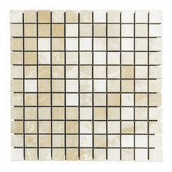 STONE TILE US - Stonetileus 10 pieces (10 Sq.ft) of Mosaic Botticino 1x1 Polished - STONE TILE US - Mosaic Tile - Botticino 1x1 Polished Specifications: Coverage: 1 Sq.ft size: 1x1 - 1 Sq.ft/Sheet Tile size: 1x1 Sheet mount:Meshed back Stone tiles have natural variations therefore color may vary between tiles. This tile contains mixture of light brown - dark brown - and color movement expectation of high variation, The beauty of this natural stone Mosaic comes with the convenience of high quality and easy installation advantage. This tile has Polished surface, and this makes them ideal for walls, kitchen, bathroom, Sheets are curved on all four sides, allowing them to fit together to produce a seamless surface area. Recommended use: Indoor - High traffic - Low traffic - Recommended areas: Botticino 1x1 Polished tile ideal for walls, kitchen, bathroom,Free shipping.. Set of 10 pieces, Covers 10 sq.ft.