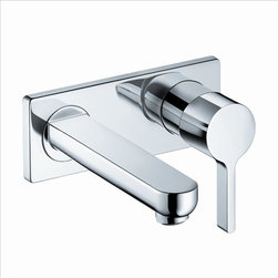 Hansgrohe - Hansgrohe 31163001 Metris S Wall Faucet - Boltic handle lock. Optional grid drain . Flow 1.5 GPM