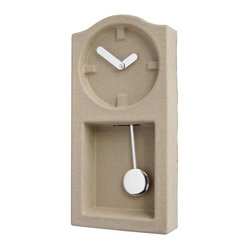 Invotis Orange - Paper Pulp Wall Clock - 'Tis the time to work towards a greener planet. If you care about style and the earth, this minimalist clock, made from recycled paper pulp and dried in the sun, belongs on your wall.