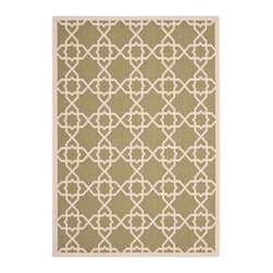 """Safavieh - Courtyard Green/Brown Area Rug CY6032-244 - 2' x 3'7"""" - Safavieh takes classic beauty outside of the home with the launch of their Courtyard Collection. Made in Belgium with enhanced polypropylene for extra durability, these rugs are suitable for anywhere inside or outside of the house. To achieve more intricate and elaborate details in the designs, Safavieh used a specially-developed sisal weave."""