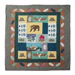 Patch Magic - Cabin Bear Quilt (King) - Choose Size: King. Handmade Quilt. 100% Cotton. Machine washable. Cold Water, Hand Washing Preferred. DO NOT machine dry. DO NOT Dry Clean. Twin: 65 in. W x 85 in. L. Queen: 85 in. W x 95 in. L. King: 105 in. w x 95 in. L. Luxury King: 120 in. W x 106 in. L