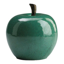Cyan Design - Cyan Design Jade Ceramic Apple - Apple of Your Eye. An apple a day may keep the doctor away, but the Jade Ceramic Apple from Cyan Design is a whimsical way to decorate your space. Shaped just like a larger-than-life apple, this decorative sculpture features a glossy jade-green hue. Set it out on your dining table for a playful centerpiece, or use it to accent everything from an eclectic living area to a country kitchen. Take a bite out of that!