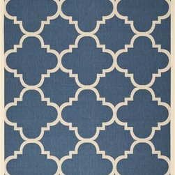 "Safavieh - Safavieh Courtyard CY6243-268 7'10"" Square Navy Rug - Safavieh's Courtyard collection was created for today's indoor/outdoor lifestyle. These beautiful but practical rugs take outdoor decorating to the next level with new designs in fashion-forward colors and patterns from classic to contemporary. Made in Turkey with enhanced polypropylene for extra durability, Courtyard rugs are pre-coordinated to work together in related spaces inside or outside the home."