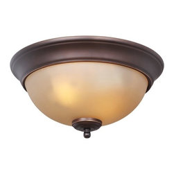 Craftmade - Craftmade X1311 2 Light Down Light Flushmount Ceiling Fixture - Craftmade X1311 2 Light Down Light Flushmount Ceiling FixtureThe classic style of this ceiling fixture is enhanced by the frosted glass, elegant finial, and beveled ring, making it an excellent addition to any d�cor.Craftmade X1311 Features: