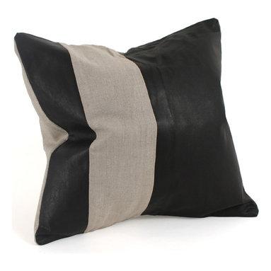Leather & Linen Pillow - Leather & Linen Pillow