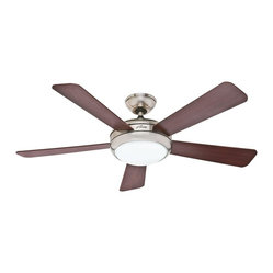 "Hunter - Hunter HU-59049 Palermo (2013) 52"" Ceiling Fan Brushed Nickel - Hunter Palermo (2013) Model HU-59049 in Brushed Nickel with Reversible Cherry/Maple Finished Blades."