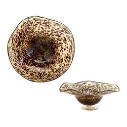 Cyan Design - Cyan Design 04493 Large Leopard Art Glass Bowl - Cyan Design 04493 Large Leopard Art Glass Bowl