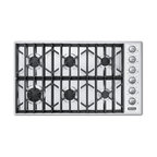 "Viking Professional 36"" Gas Cooktop, Stainless Liquid Propane 