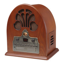 "It Had To Be You Radio - Many decades ago, people were ""singing in the rain"" about how ""it had to be you."" And they were doing so to the backdrop of the famous cathedral radio that cranked out classic tunes. Make your own memories with this stylish,  paprika-toned wooden beauty."