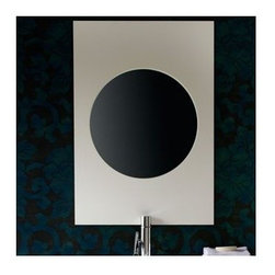 """Porcher - Tetsu 33"""" x 23"""" Wall Mirror - Features: -Wall mirror.-Tetsu collection.-Available in bamboo, mozambique, wenge, maple or white finish.-Veneers and premium hardwood construction .-Elegant style.-Simple, elegant designs.-Manufacturer provides 1 year limited warranty.-Overall dimensions: 33"""" H x 23"""" W x 1.5"""" D."""