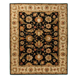 Jaipur Rugs - Traditional Oriental Pattern Gray /Black Wool Tufted Rug - MY03, 8x10 - Sublime hues and graceful lines accentuate the traditional pattern motifs in Mythos, an elegant and value-driven range of durable, hand-tufted area rugs. This sophisticated collection is for the discriminating consumer with a passion for traditional design, at prices that answer every budget. The Mythos Collection is tradition, redefined.