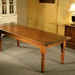 Cottage Style Dining Room Tables with Smooth Brown Cherry Finish - Made by www.ecustomfinishes.com